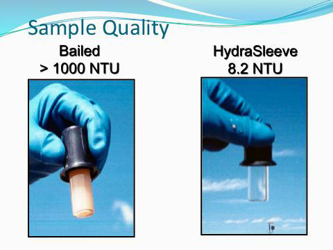 Quality of bailed versus HydraSleeve sample.